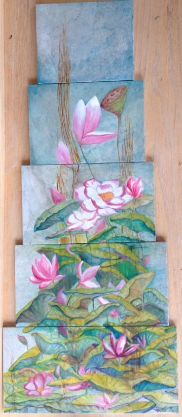 Tile Lotus Painting02